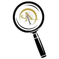 Magnifying glass with AI logo